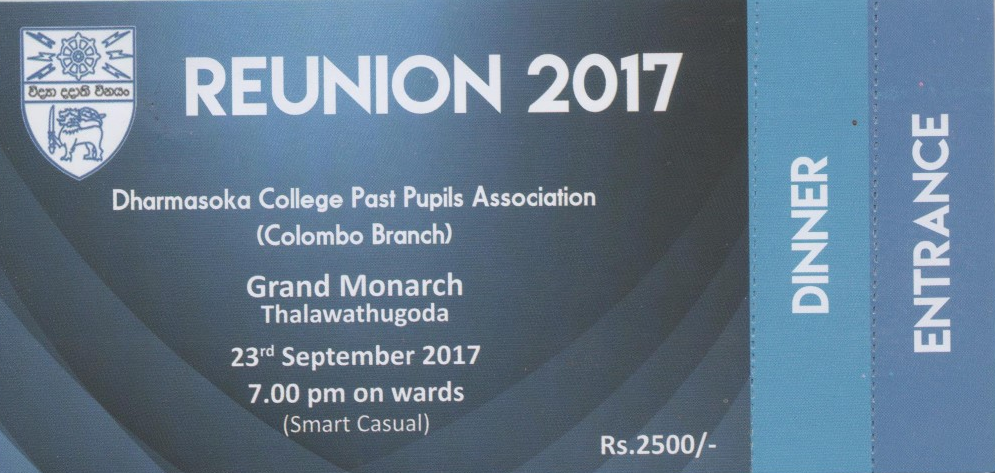 REUNION 2017 - Colombo Branch