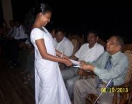 A Scholarship recipient receives  the scholarship